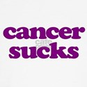 Cancer Sucks Purple Awareness Baseball Jersey