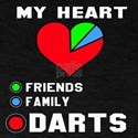 My Heart Friends, Family and Darts T-Shirt