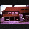 old picture of house with open garage T-Shirt