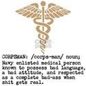Corpsman definition (olive drab) T-Shirt
