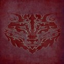 Tribal Wolf Red T-Shirt