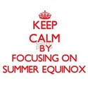 Keep Calm by focusing on SUMMER EQUINOX T-Shirt