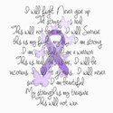 Purple Ribbon, poem Women's T-Shirt