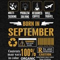 Born September Multitasking Problem Solvin T-Shirt