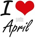 I Love April Artistic Design T-Shirt