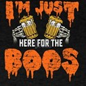 I'm just here for the boos Halloween skele T-Shirt
