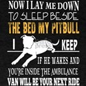Beside The Bed My Pit Bull I Keep T Shirt T-Shirt