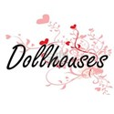 Dollhouses Artistic Design with Hearts T-Shirt