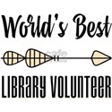 World's Best Library Volunteer White T-Shirt