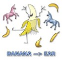 Banana --> Ear White T-Shirt