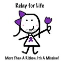Purple Ribbon - Relay for Life White T-Shirt