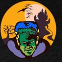 Frankenstein Haunted House Retro T-Shirt