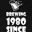 Brewing Since 1980 Beer Fathers Day Gift T-Shirt