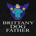 Brittany Dog Father T-Shirt