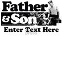Father & Son Personalized White T-Shirt