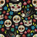 Sugar Skull Mexican Skulls, Flowers Day of T-Shirt