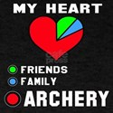 My Heart Friends, Family, Archery T-Shirt