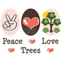 Peace Love Trees White T-Shirt
