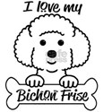I Love My Bichon Frise T-Shirt