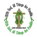 With God Cross Cerebral Palsy White T-Shirt