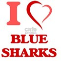 I Love Blue Sharks T-Shirt
