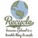 Planet Earth Recycle White T-Shirt