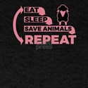 Eat Sleep Save Animals Repeat 3 T-Shirt