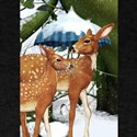 Fawn deer snow scene T-Shirt