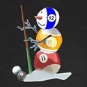 Billiards Cue Ball Snowman