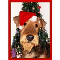 Airedale Terrier Christmas White T-Shirt
