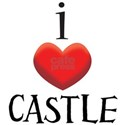 i love CASTLE.png White T-Shirt