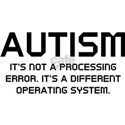 Autism Operating System White T-Shirt