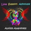 Autism Ribbon with Wings
