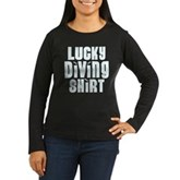 Lucky Diving Shirt Women's Long Sleeve Dark T-Shir