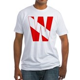 Scuba Flag Letter W Fitted T-Shirt