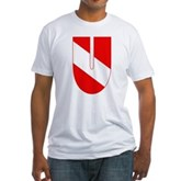 Scuba Flag Letter U Fitted T-Shirt
