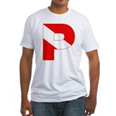Scuba Flag Letter P Fitted T-Shirt
