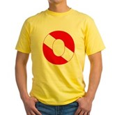 Scuba Flag Letter O Yellow T-Shirt