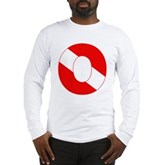 Scuba Flag Letter O Long Sleeve T-Shirt