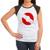 Scuba Flag Letter O Women's Cap Sleeve T-Shirt