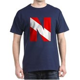 Scuba Flag Letter N Dark T-Shirt