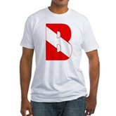 Scuba Flag Letter B Fitted T-Shirt
