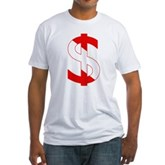 Scuba Flag Dollar Sign Fitted T-Shirt