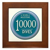 10000 Dives Milestone Framed Tile