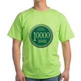10000 Dives Milestone Green T-Shirt