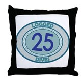 25 Logged Dives Throw Pillow