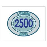 2500 Logged Dives Small Poster