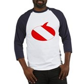 Text Bubble Dive Flag Baseball Jersey