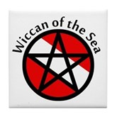 Wiccan of the Sea Tile Coaster
