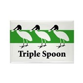 Triple Spoon Rectangle Magnet